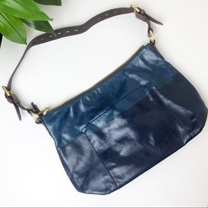 Hobo Charlie leather shoulder Bag in INDIGO navy